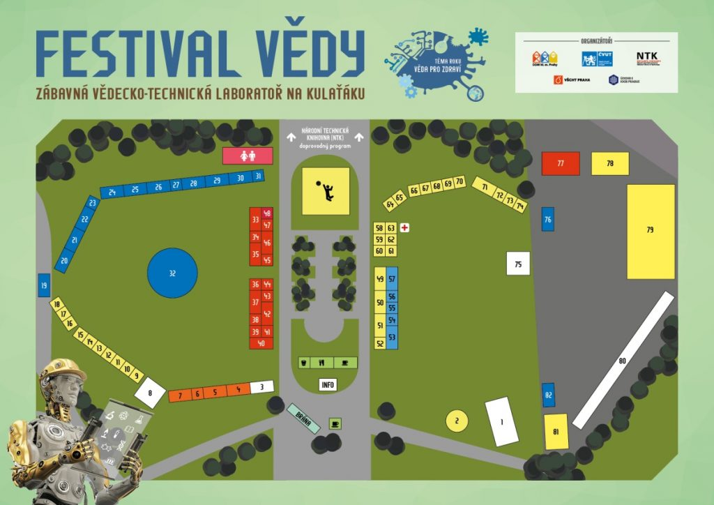 Festival vědy 2017 - plánek
