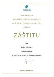 Eva Zažímalová - předsedkyně Akademie věd České republiky