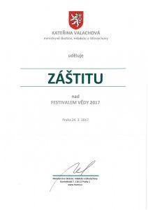 Záštita - ministryně Valachová